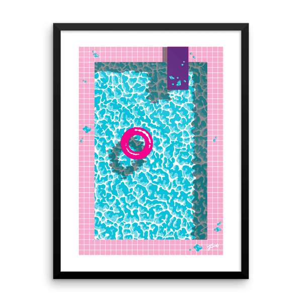 "NEW! ""Cool In The Pool"" Art Print. No Text Version. Limited Edition"