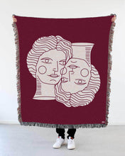 "Load image into Gallery viewer, ""Doppelgänger"" Woven Art Blanket by Cynthia Torrez"