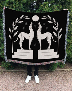 """Caesar's Friends"" Woven Art Blanket by Cynthia Torrez"