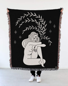 """Tripod Eye"" Woven Art Blanket by Cynthia Torrez"