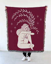 "Load image into Gallery viewer, ""Tripod Eye"" Woven Art Blanket by Cynthia Torrez"