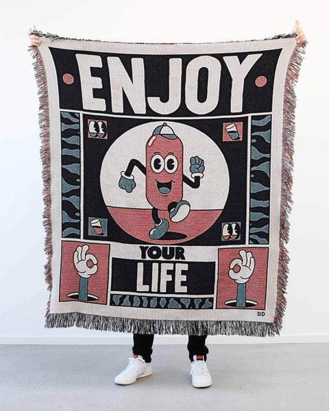"""Enjoy Your Life"" Woven Art Blanket by YeYe Weller"