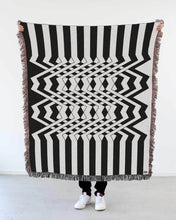 "Load image into Gallery viewer, ""Inter"" Woven Art Blanket by Peter Judson"