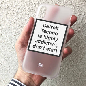 Detroit Techno is Highly addictive, don't start. Metamessage Phone Case.