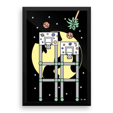 "Load image into Gallery viewer, ""Space Hoops"" Art Print by DrakeCereal"