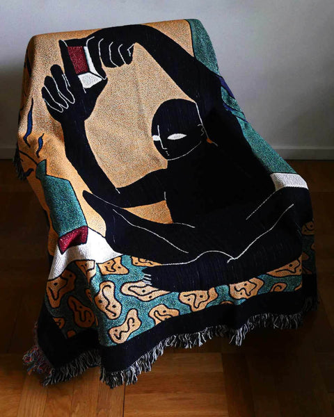 """Make your own Vision"" Woven Art Blanket by Lena Mačka"