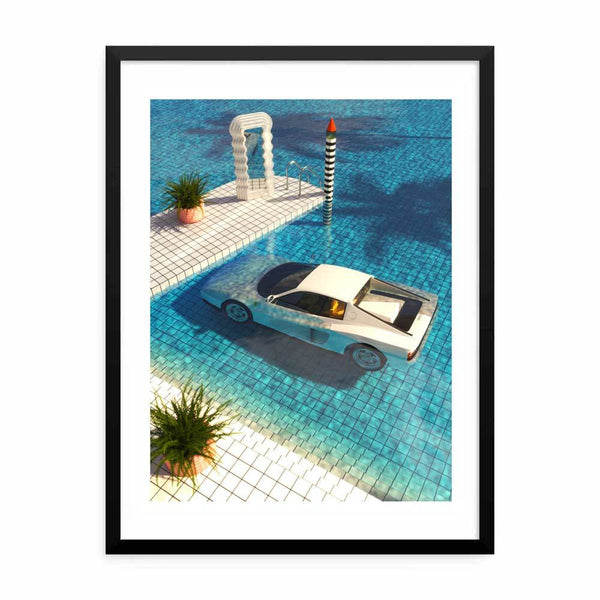 """Definitely Miami"" Art Print by SR Formica"