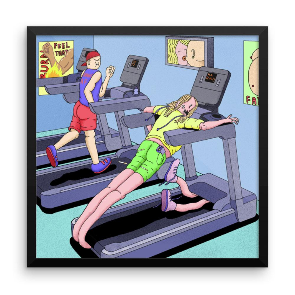 """Treadmill Chill"" Art Print by Alex Gamsu Jenkins"