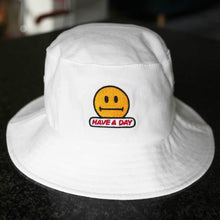 "Load image into Gallery viewer, ""HAVE A DAY"" 80s-90s STYLE BUCKET HAT"