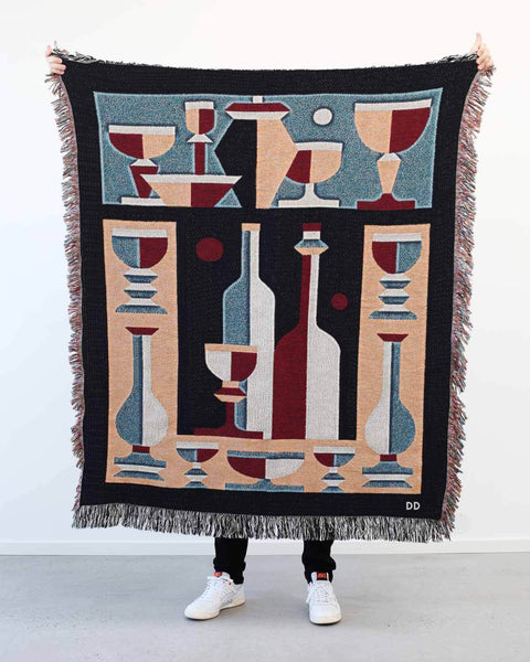 """Dining Palette"" Woven Art Blanket by Jacco Bunt"
