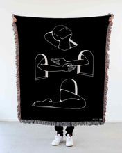 "Load image into Gallery viewer, ""Rising Above"" Woven Art Blanket by Lena Mačka"