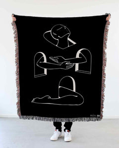 """Rising Above"" Woven Art Blanket by Lena Mačka"