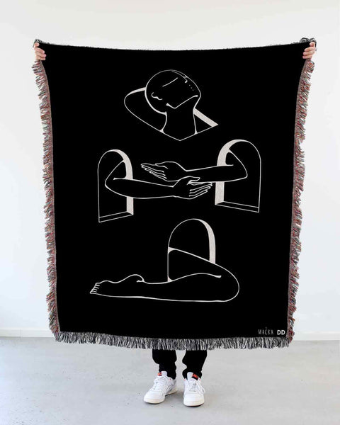 "NEW! ""Rising Above"" Woven Art Blanket by Lena Mačka"