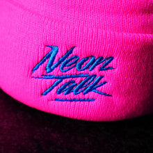 Load image into Gallery viewer, Neon Talk Knit Beanie. Neon Magenta