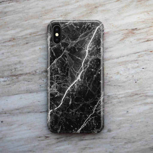 Floating Black Marble Phone Case
