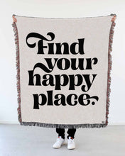 "Load image into Gallery viewer, ""Find Your Happy Place"" Woven Art Blanket by Mark Caneso"