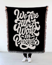 "Load image into Gallery viewer, NEW! ""We Are All a Work in Progress"" Woven Art Blanket by Mark Caneso"