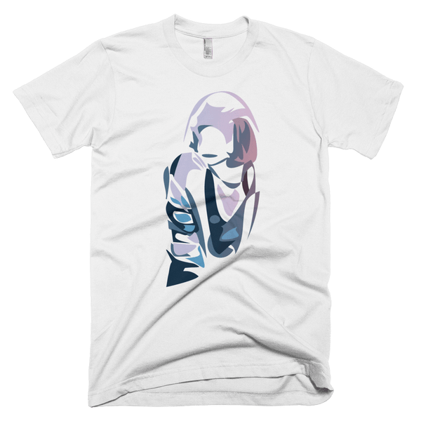 "SIXTIUS Unisex T-shirt ""Purple Jane"" White"