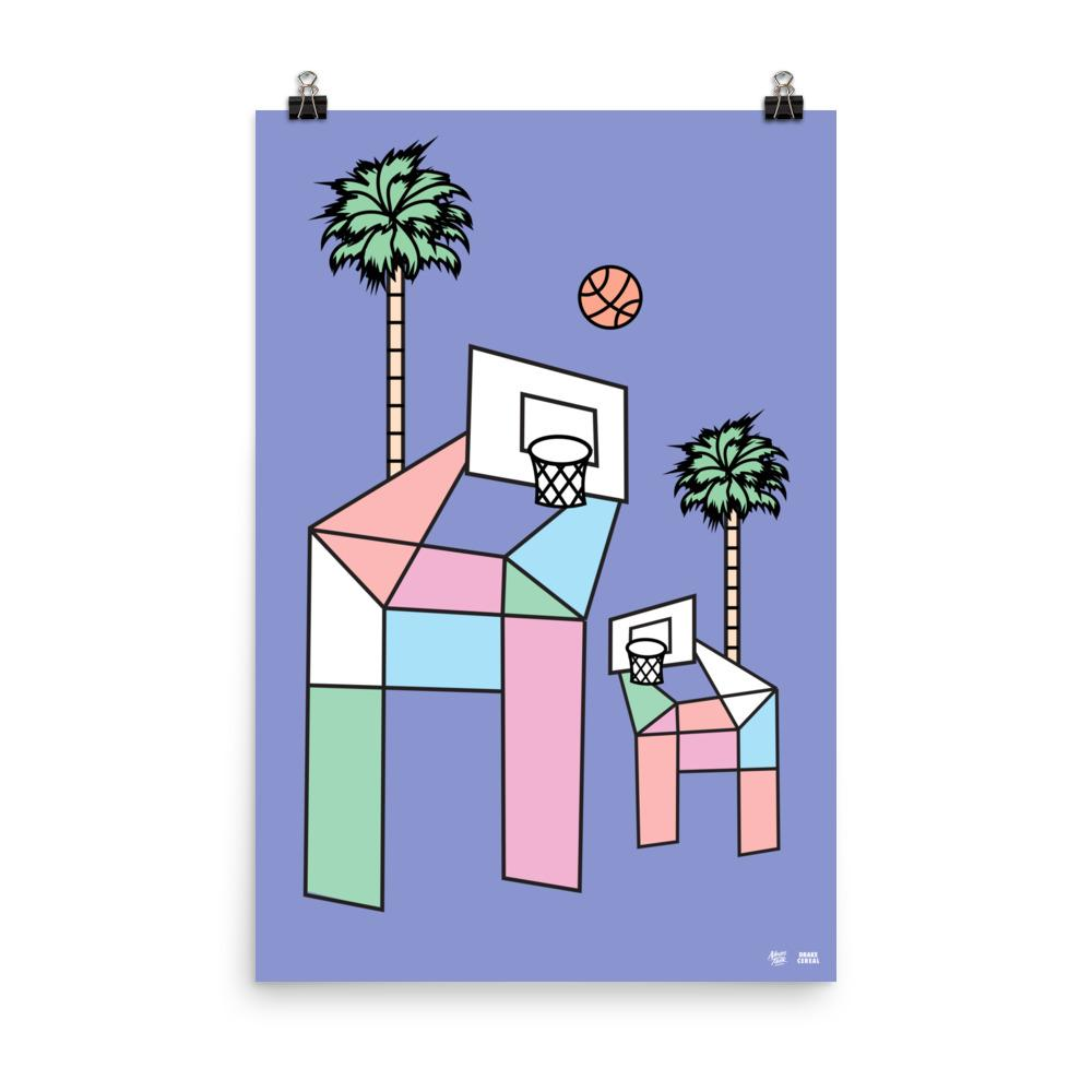 """Geometric Hoops"" Art Print by DrakeCereal"