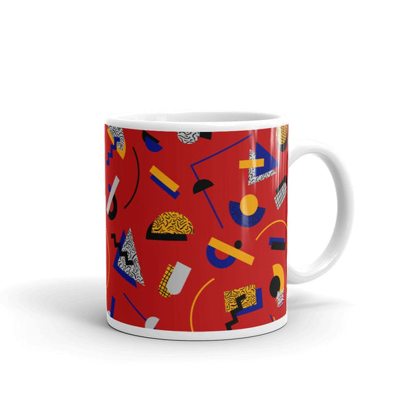 """Memphis Pop"" Red Mug by Hanna Kastl-Lungberg"