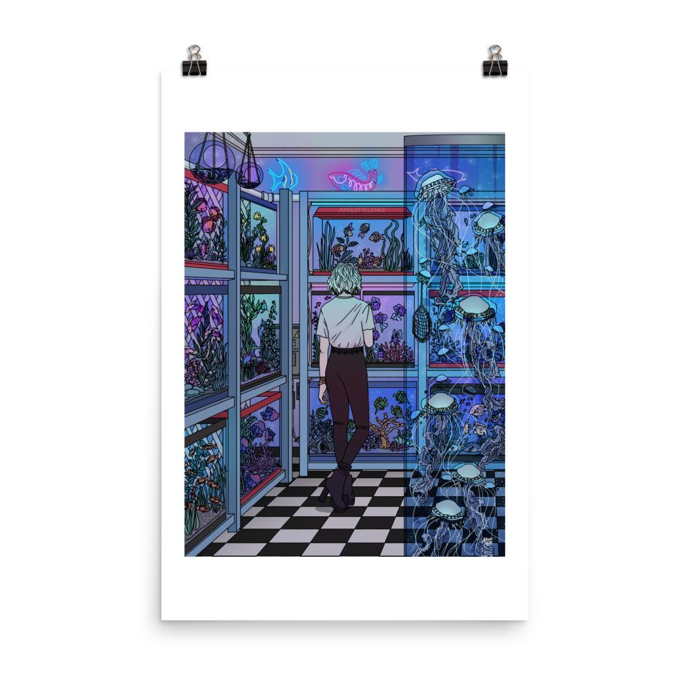 """AQUARIUM"" ART PRINT BY Amidstsilence / KELSEY SMITH."