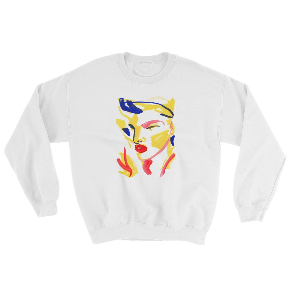 """Face Me"" Sweatshirt by Lynnie Zulu"