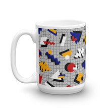 "Load image into Gallery viewer, ""Memphis Pop"" Gray Mug by Hanna Kastl-Lungberg"
