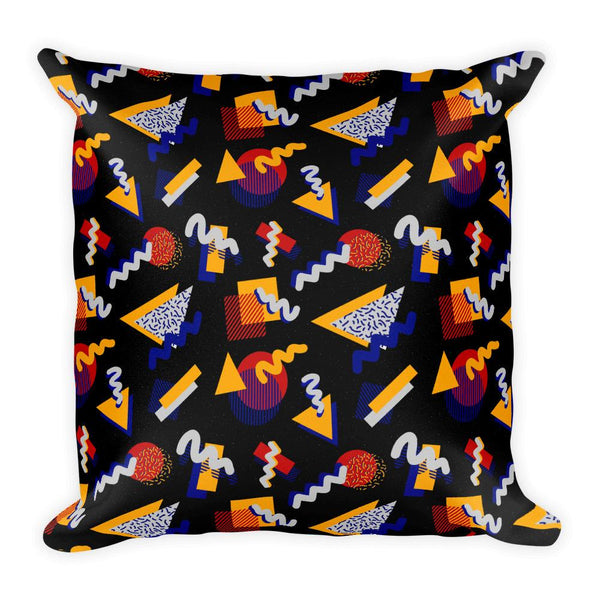 """MEMPHIS POP"" BLACK SQYARE PILLOW BY HANNA KASTL-LUNGBERG"