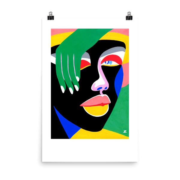 "Lynnie ZULU Art Print ""Lady Bytheway"" (24 x 36 in)"