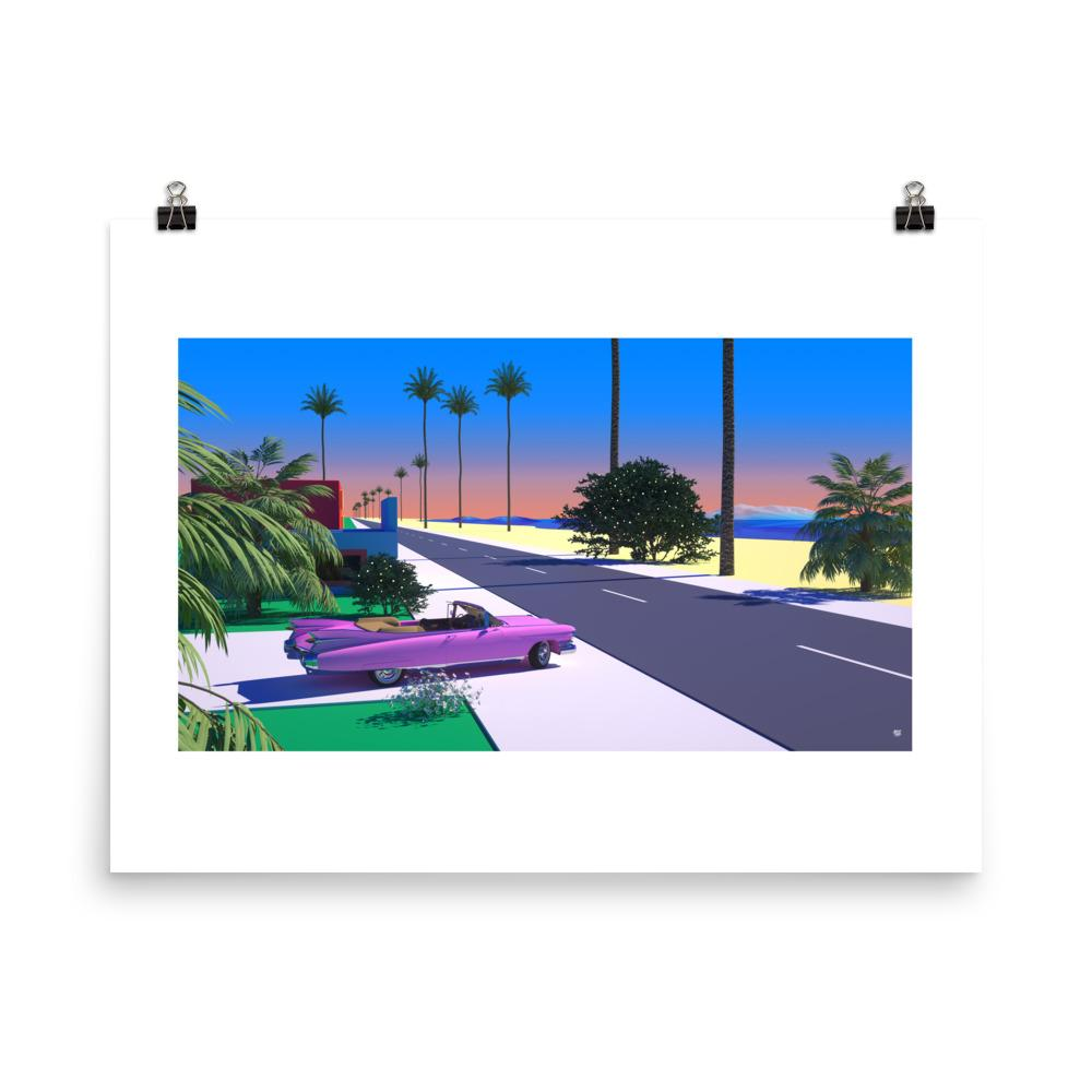"""Tropical Transit"" Art Print by Trey Trimble"