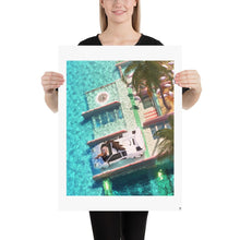 "Load image into Gallery viewer, ""Miami Beach"" Art Print by SR Formica"