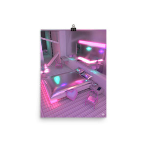 """Neon Love Room"" Jess Audrey  Art Print. Limited Edition"