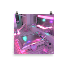 "Load image into Gallery viewer, ""Neon Love Room"" Jess Audrey  Art Print. Limited Edition"