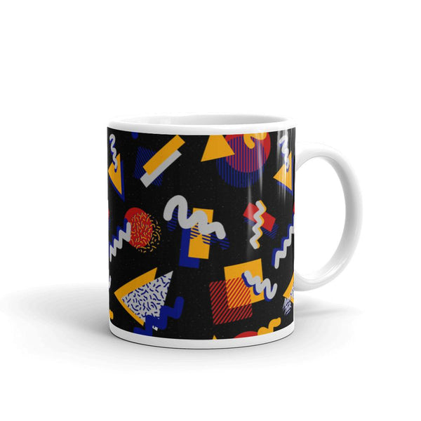 """Memphis Pop"" Black Mug by Hanna Kastl-Lungberg"