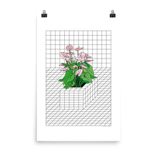 Load image into Gallery viewer, Tron Flower Art Print by Vengodelvalle