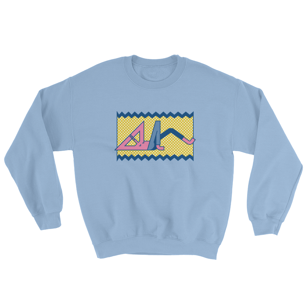 "Thomas Hedger ""Relax!"" Sweatshirt Light Blue"