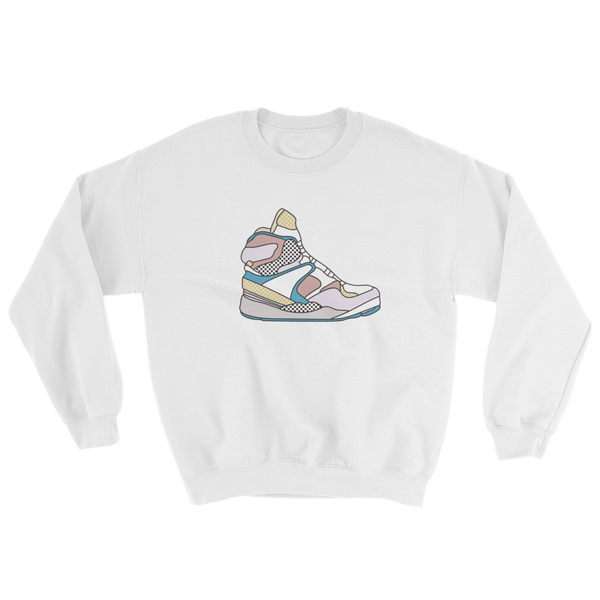 "Rikard Olsen Sweatshirt ""Percy's sneakers"" White"