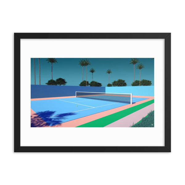"""Tennis Time"" Art Print by Trey Trimble"