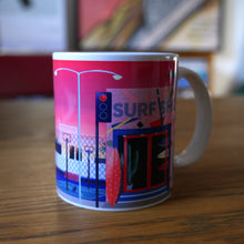 "Load image into Gallery viewer, Yoko Honda Mug ""Surf Shop"""