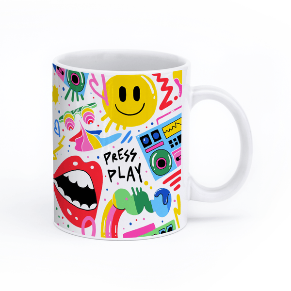 "Ms Wearer Mug ""Press Play"""