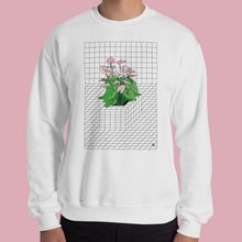 Load image into Gallery viewer, Tron Flower. Sweatshirt by Vengodelvalle