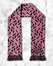 Load image into Gallery viewer, Bubble Gum Licorice Knitted Scarf