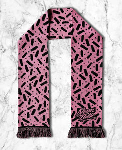 Bubble Gum Licorice Knitted Scarf