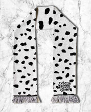 Load image into Gallery viewer, Dalmatian Knitted Scarf