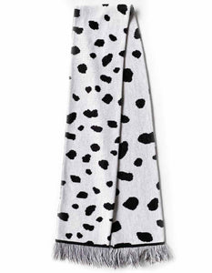 Dalmatian Knitted Scarf