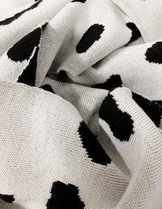 Dalmatian 100% Wool Scarf - Extra Large
