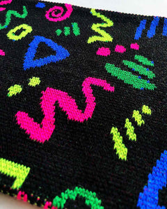 Neon Confetti Knitted Scarf