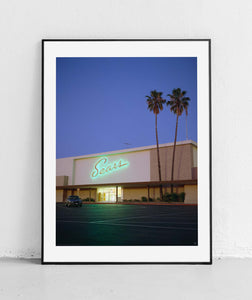 Sears Neon Light. Mountain View. 1990 by Ian E Abbott