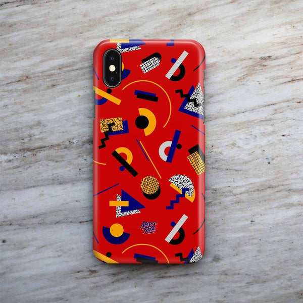 """Memphis Pop"" Red Phone Case by Hanna Kastl-Lungberg"