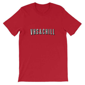 """VHS & Chill"" Netflixified T-Shirt by Freshcolor"